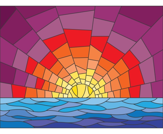 Sunset_Stained_Glass_Illustration